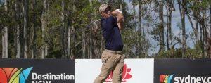 daniel Nisbet hitting a golf shot