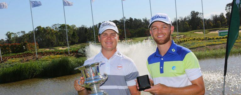 2018 AV Jennings Open Champion Jake McLeod, and Amateur Medallist, Blake Windred.
