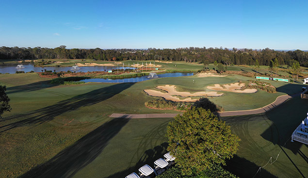 Twin Creeks Golf and Country Club drone at NSW Open 2018