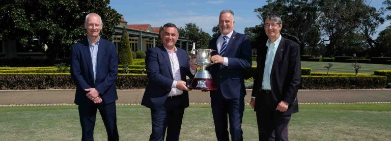Golf officials with the Kel Nagle Cup
