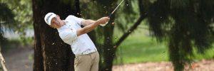 Golfer hitting a shot